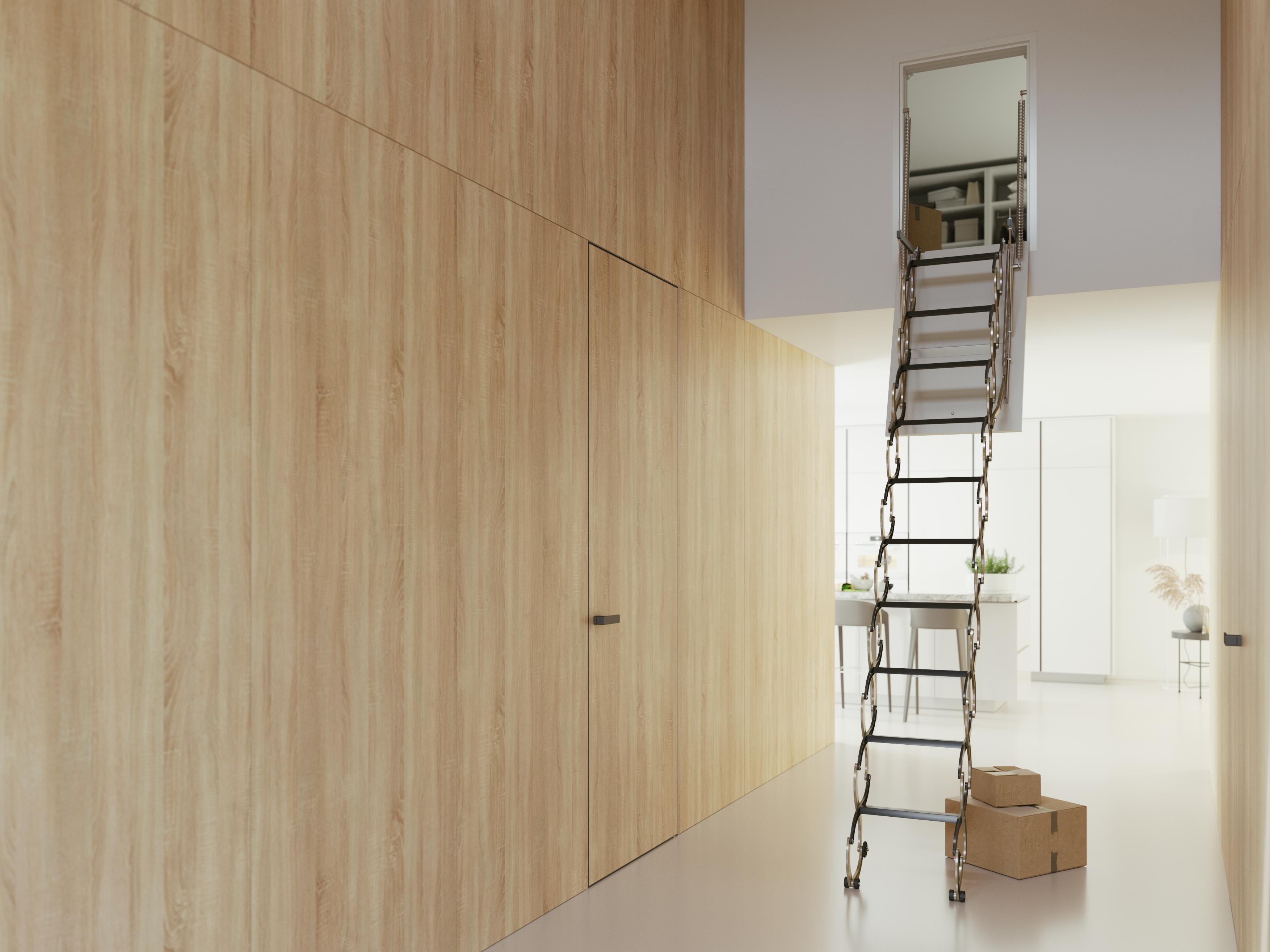stahovaci schody VERTICALE drevotriskove viko foto zdroj JAP FUTURE 1