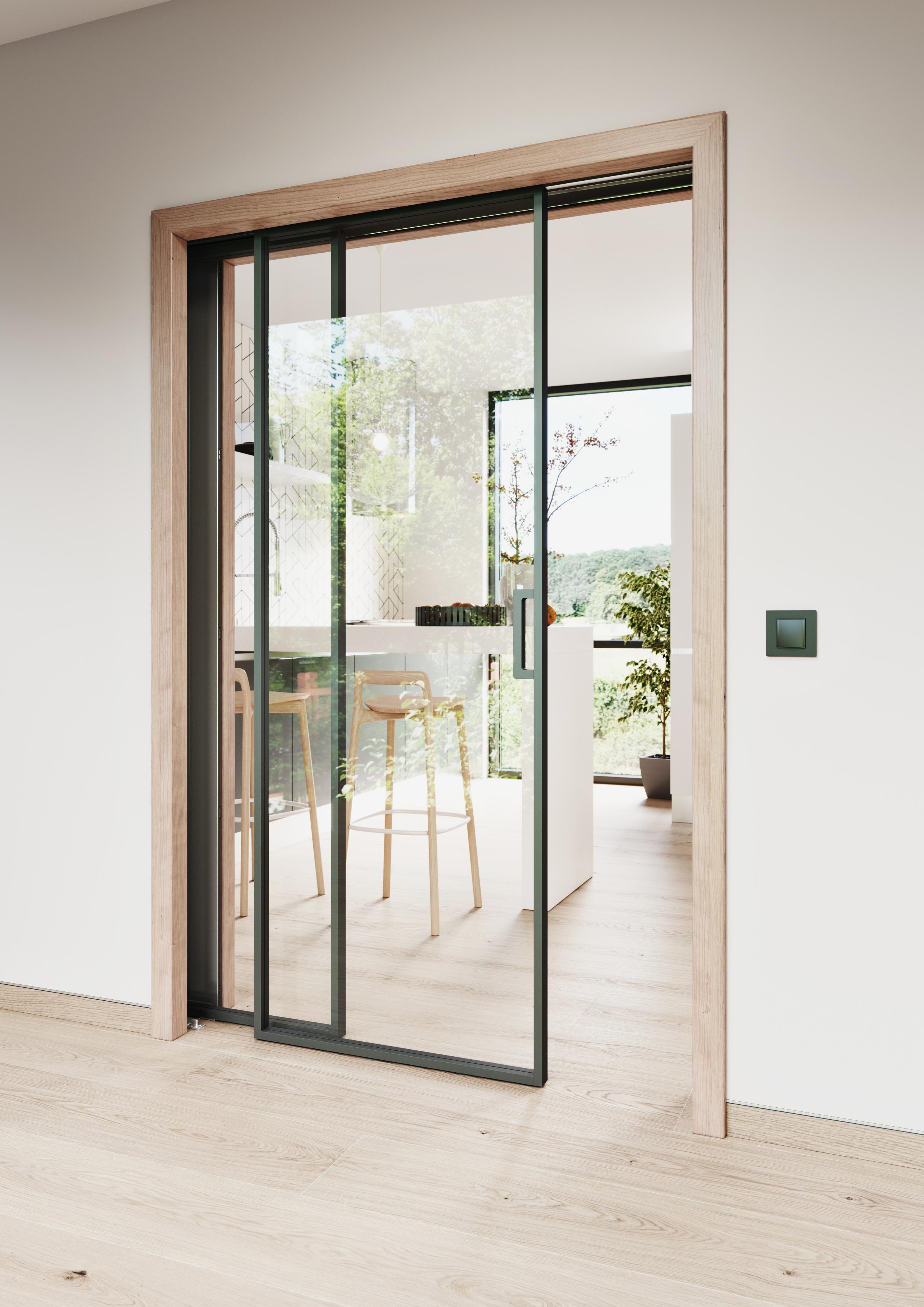 Stavebni pouzdro NORMA PARALELL dvere IDEA cire sklo foto zdroj JAP FUTURE