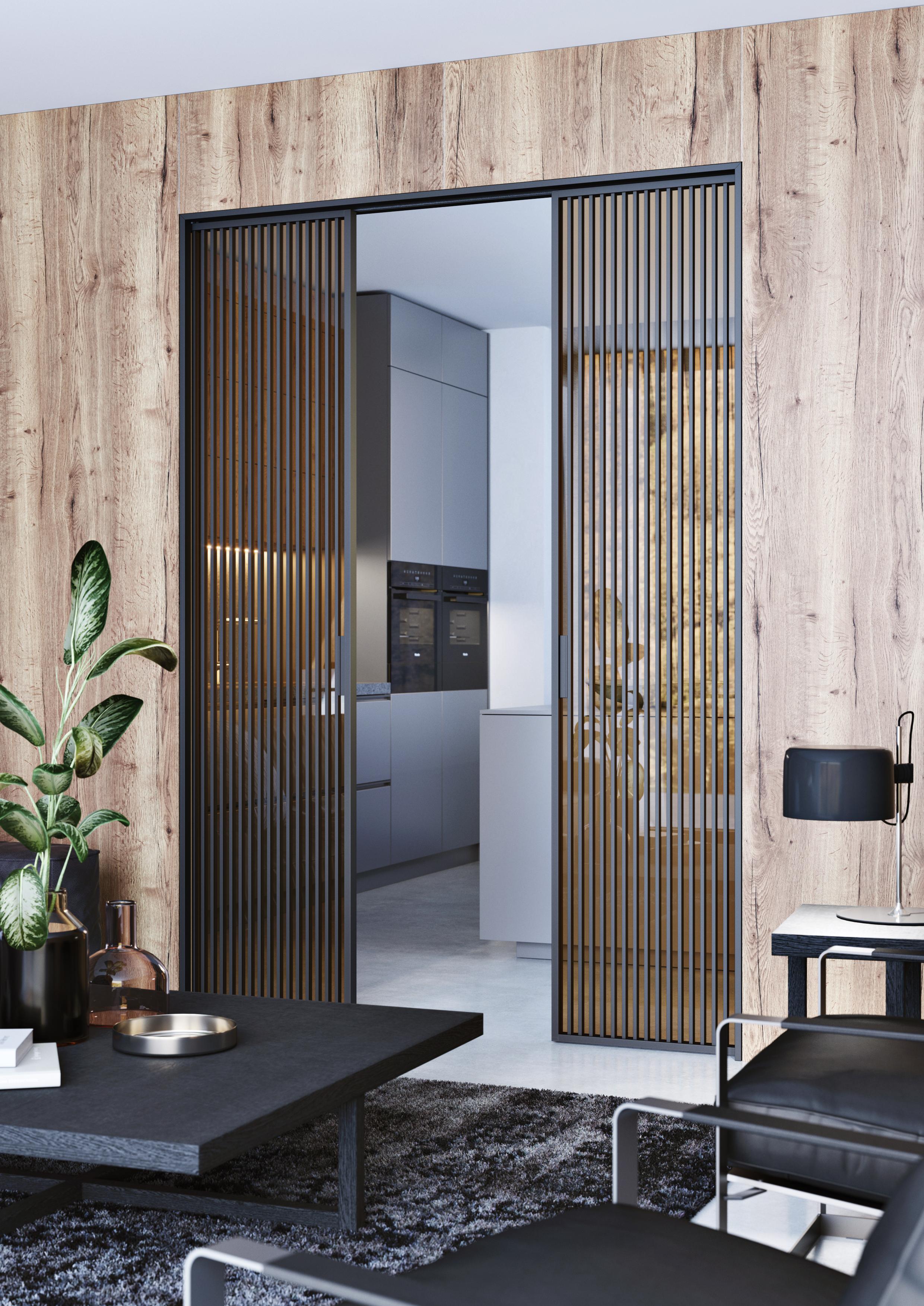 dvere IDEALINE Vertical sklo planibel bronz stavebni pouzdro EMOTIVE KOMFORT foto zdroj JAP FUTURE